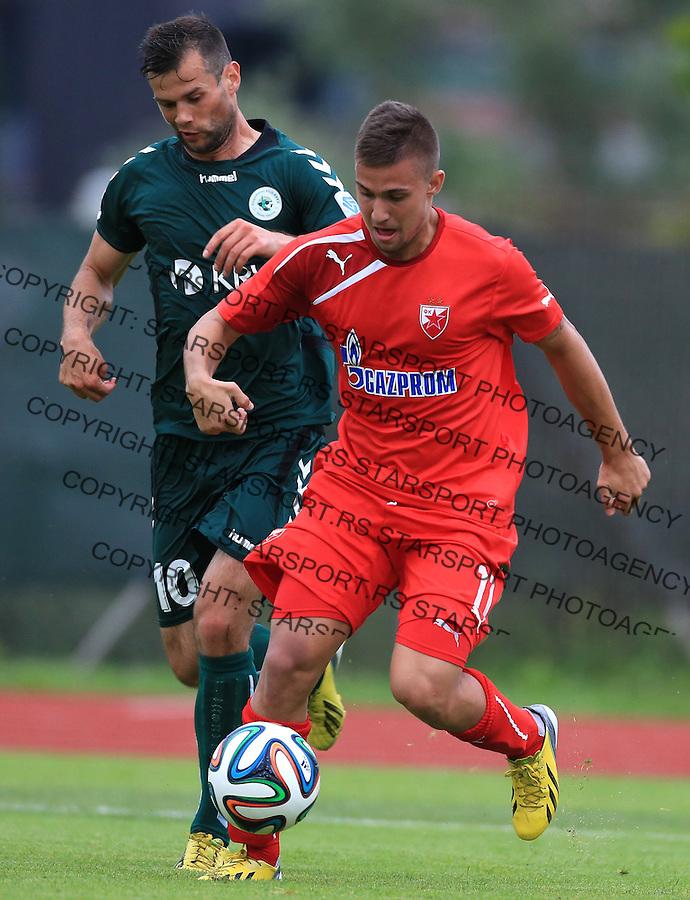 Fudbal season 2013-2014<br /> FK Crvena Zvezda pripreme<br /> Crvena Zvezda v Krka<br /> Nikola Karaklajic (R)<br /> Novo Mesto, 07.12.2014.<br /> foto: Srdjan Stevanovic/Starsportphoto &copy;