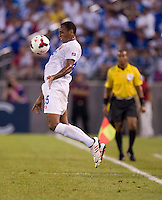 Junior Diaz (15) of Costa Rica controls the ball during the quarterfinals of the CONCACAF Gold Cup at M&T Bank Stadium in Baltimore, MD.  Honduras defeated Costa Rica, 1-0.