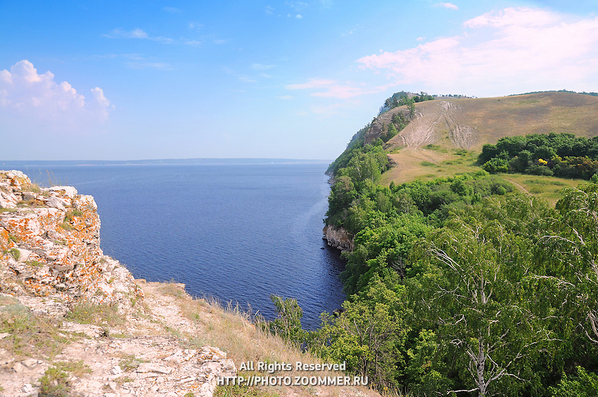 "Molodetsky barrow on the bank of Volga river in Russian National Park ""Samara Luka"""