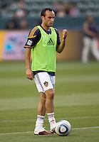 LA Galaxy forward Landon Donovan (10) warming up before the match at Home Depot Center stadium in Carson, California on Saturday May 15, 2010.  ..
