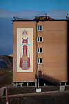 Apartment building in Barentsburg, a Russian coal mining town in the Norwegian Archipelego of Svalbard. Once home to about 2000 miners and their families, less than 500 people now live here.