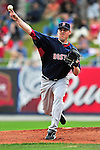 11 March 2010: Boston Red Sox pitcher John Lackey warms up prior to a Spring Training game against the New York Mets at Tradition Field in Port St. Lucie, Florida. The Red Sox defeated the Mets 8-2 in Grapefruit League action. Mandatory Credit: Ed Wolfstein Photo