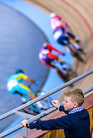 Picture by Alex Whitehead/SWpix.com - 05/03/2016 - Cycling - 2016 UCI Track Cycling World Championships, Day 4 - Lee Valley VeloPark, London, England - fans, supporters during the Men's Omnium Points Race.