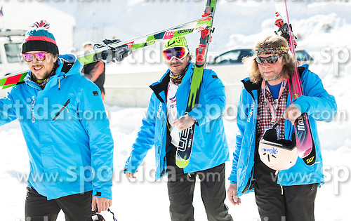 Workers during Ski Flying Hill Team Competition at Day 3 of FIS Ski Jumping World Cup Final 2016, on March 19, 2016 in Planica, Slovenia. Photo by Vid Ponikvar / Sportida