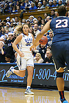17 December 2013: Duke's Tricia Liston (32) and UConn's Kaleena Mosqueda-Lewis (230. The Duke University Blue Devils played the University of Connecticut Huskies at Cameron Indoor Stadium in Durham, North Carolina in a 2013-14 NCAA Division I Women's Basketball game. UConn won the game 83-61.