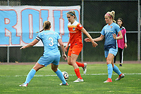 Piscataway, NJ - Saturday May 20, 2017: Christie Pearce, Morgan Brian, Nikki Stanton during a regular season National Women's Soccer League (NWSL) match between Sky Blue FC and the Houston Dash at Yurcak Field.  Sky Blue defeated Houston, 2-1.