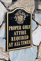 Terranea, Resort, Palos Verdes, Ca,  Resort Golf, Hotel, Links, Sign, Proper, Golf Attire, Required, at all times