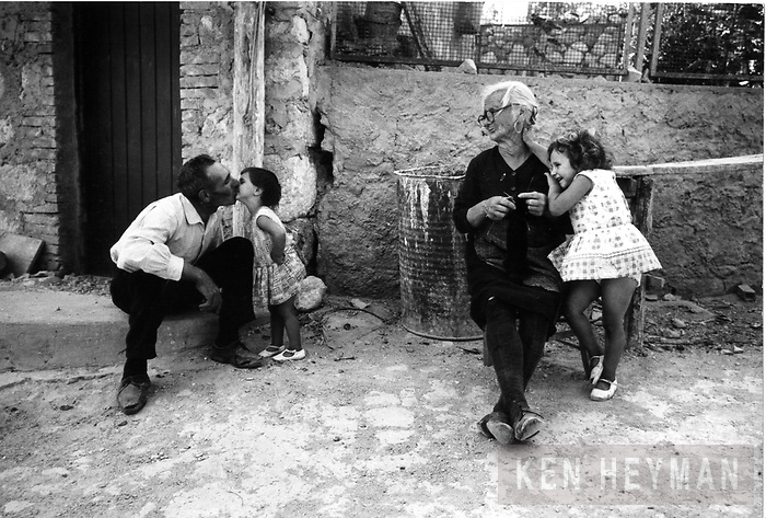 The village of Raffo in the mountains of Sicily where Margaret Mead studied this family.