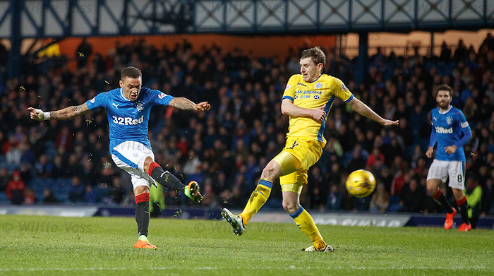 James Tavernier lets rip