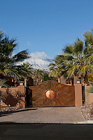 Entry gates to luxury residence