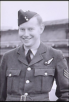 BNPS.co.uk (01202 558833)<br /> Pic: C&amp;TAuctions/BNPS<br /> <br /> Flight Sergeant Norman Mayo.<br /> <br /> A poignant time capsule containing the last belongings of a tragic airman his grief-stricken parents couldn't bring themselves to look at has been discovered during a house clearance.<br /> <br /> The poignant archive of letters, logbooks, diary, photos and medals relating to Flight Sergeant Norman Mayo were placed in a small suitcase in 1945 by Albert and Annie Mayo and seemingly never opened again.<br /> <br /> The black leather case was found stashed under a bed by a house clearance firm tasked with getting rid of the contents before the empty property in Finchley, North London.<br /> <br /> The archive is now being sold by C&amp;T Auctioneers.