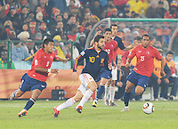 Spain won Group H following a 2-1 defeat of Chile in Pretoria's Loftus Versfeld Stadium, Friday, June 25th, at the 2010 FIFA World Cup in South Africa..