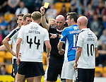 St Johnstone v Falkirk&hellip;23.07.16  McDiarmid Park, Perth. Betfred Cup<br />Paul Watson is booked by Bobby Madden for the foul for the second penalty<br />Picture by Graeme Hart.<br />Copyright Perthshire Picture Agency<br />Tel: 01738 623350  Mobile: 07990 594431