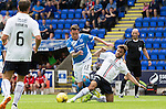 St Johnstone v Falkirk&hellip;23.07<br />Danny Swanson is fouled by Tom Taiwo for the first penalty<br />Picture by Graeme Hart.<br />Copyright Perthshire Picture Agency<br />Tel: 01738 623350  Mobile: 07990 594431