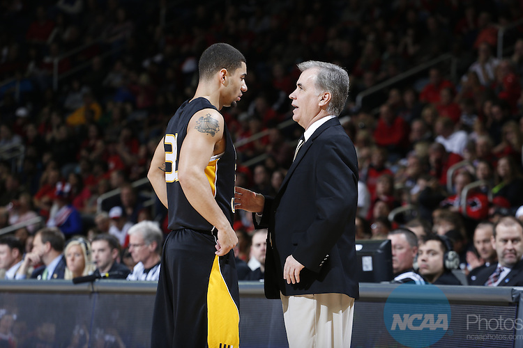 29 MAR 2014:  West Liberty University against the University of Central Missouri during the Division II Men's Basketball Championship held at the Ford Center in Evansville, IN. West Liberty defeated Central Missouri 75-66 for the national title. Joe Robbins/NCAA Photos