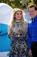 Singer/actress Meghan Trainor &amp; actor Jeff Dunham at the world premiere for &quot;Smurfs: The Lost Village&quot; at the Arclight Theatre, Culver City, USA 01 April  2017<br /> Picture: Paul Smith/Featureflash/SilverHub 0208 004 5359 sales@silverhubmedia.com