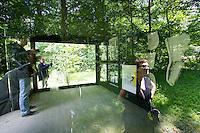 "dOCUMENTA (13) in Kassel, Germany..Karlsaue..Rosemarie Trockel, ""Tea Party Pavillion"", 2012."