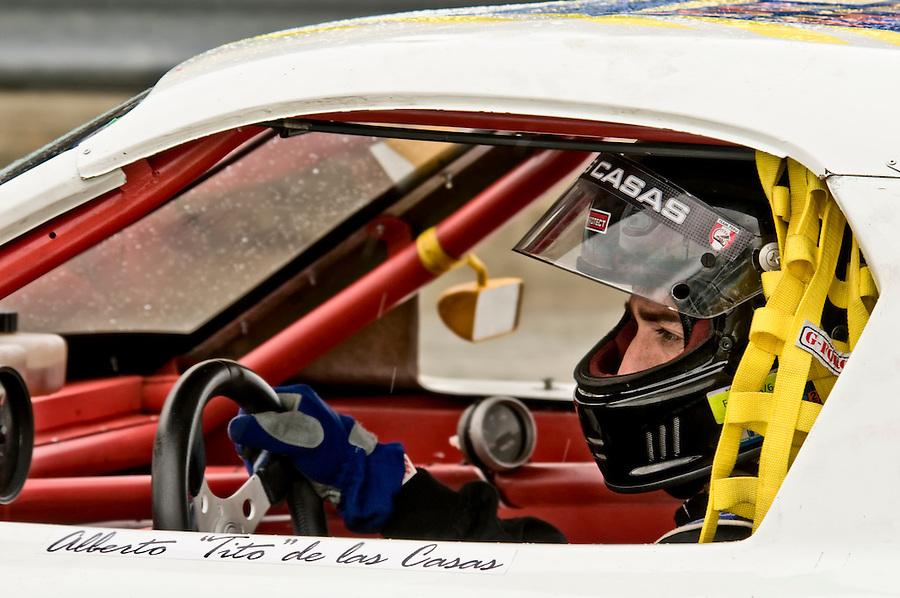 "MIAMI - APRIL 18: Alberto ""Tito"" de las Casas driving during FARA Races, April 18, 2010 in Miami, Florida. Editorial Use Only."
