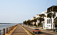 Charleston: View of Battery Park, a landmark promenade famous for its stately antebellum homes. Photo '78.