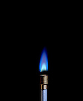 AIR INTAKE AFFECTS BUNSEN BURNER FLAME (4 of 4)<br />