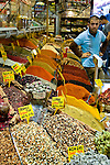 Spices on display in the Spice Market in Istanbul