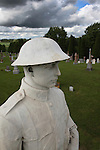 Statue of World War I Soldier in Rural Canadian Cemetery