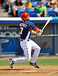 15 March 2008: Washington Nationals' infielder Matt Whitney at bat during a Spring Training game against the Los Angeles Dodgers at Space Coast Stadium, in Viera, Florida...Mandatory Photo Credit: Ed Wolfstein Photo