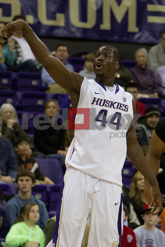 Darnell Gant.  UW Mens basketball vs. Oregon State.  Photo by Rob Sumner / Red Box Pictures.