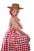 Stock photo of woman in a vintage dress