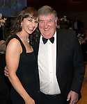 St Johnstone FC Scottish Cup Celebration Dinner at Perth Concert Hall...01.02.15<br /> Rachael Simms and Roger Yeoman<br /> Picture by Graeme Hart.<br /> Copyright Perthshire Picture Agency<br /> Tel: 01738 623350  Mobile: 07990 594431
