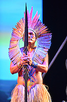 MIAMI, FL - SEPTEMBER 29: Meu performs during the Journey to Mutum: A Cultural Encounter with the Yawanaw· Tribe of the Brazilian Amazon at Miami Theater Center on September 29, 2016 in Miami, Florida. Credit: MPI10 / MediaPunch