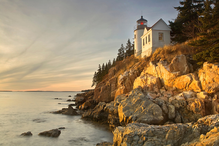 Bass Harbor Head Lighthouse at Acadia National Park, Maine, United States of America