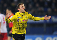 FUSSBALL   1. BUNDESLIGA   SAISON 2011/2012   18. SPIELTAG Hamburger SV - Borussia Dortmund     22.01.2012 Jakub  KUBA Blaszczykowski (Borussia Dortmund) Torjubel