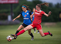 Boyds, MD - Saturday May 20, 2017: Shea Groom and Alyssa Kleiner during a regular season National Women's Soccer League (NWSL) match between the Washington Spirit and FC Kansas City at Maureen Hendricks Field, Maryland SoccerPlex.