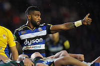 Niko Matawalu of Bath Rugby gives a thumbs up. Aviva Premiership match, between Leicester Tigers and Bath Rugby on November 29, 2015 at Welford Road in Leicester, England. Photo by: Patrick Khachfe / Onside Images