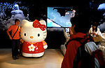Tourists at the Hello Kitty theme park