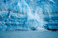 AKS-377 The Hubbard Glacier is a large tidewater glacier that calves frequently. Advancing Glacier.  Wrangell-St. Elias National Park, Alaska.  Original:  35mm Transparenc
