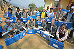 Newly trained masons and carpenters pose with their new toolboxes at the end of an ACT Alliance-sponsored course in Dhawa, a village in the Gorkha District of Nepal. In the wake of the 2015 earthquake that ravaged the region, Dan Church Aid, a member of the ACT Alliance, has provided a variety of support for villagers here, including preparing these workers to build new houses once the Nepali government disburses funds for construction.