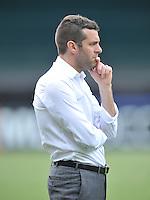 D.C. United Head Coach Ben Olsen.  D.C. United tied The Sporting Kansas City 1-1, at RFK Stadium, Sunday May 19, 2013.