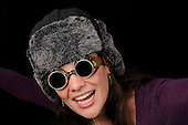 Woman with an Aviator Hat