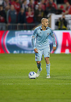 Sporting KC defender Aurelien Collin #78 in action during an MLS game between Sporting Kansas City and the Toronto FC at BMO Field in Toronto on June 4, 2011..The game ended in a 0-0 draw...