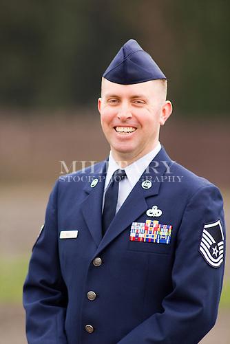 USAF Sergeant E-7 Robert Bell, C-5 Globemaster maintenance supervisor ...