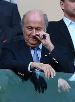 FIFA president Sepp Blatter picks his nose