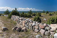 Stone Fence in Pärnu County, Estonia, Europe