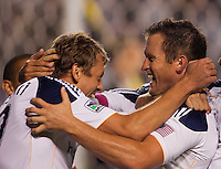 The LA Galaxy defeated CD Chivas USA 1-0 during the SuperClasico MLS match at Home Depot Center stadium in Carson, California on October 16, 2011.