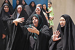 BAGHDAD, IRAQ: Women in the aftermoath of a bomb explosion in the Alawi neighborhood, a Shia area in Baghdad...Bombs destroyed seven buildings in three areas of the Iraqi capital Baghdad, killing at least 28 people and wounding 75.