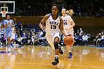 24 January 2016: Duke's Kyra Lambert. The Duke University Blue Devils hosted the University of North Carolina Tar Heels at Cameron Indoor Stadium in Durham, North Carolina in a 2015-16 NCAA Division I Women's Basketball game. Duke won the game 71-55.