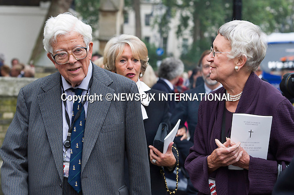 11.09.2014;London, England: LORD GEOFFREY HOWE AND LADY ELSPETH HOWE<br /> attend the Memorial Service for Mark Shand at St Paul's Knightsbridge,London.<br /> Mark, Camilla's brother died in New York earlier this year.<br /> Mandatory Photo Credit: &copy;Francis Dias/NEWSPIX INTERNATIONAL<br /> <br /> **ALL FEES PAYABLE TO: &quot;NEWSPIX INTERNATIONAL&quot;**<br /> <br /> PHOTO CREDIT MANDATORY!!: NEWSPIX INTERNATIONAL(Failure to credit will incur a surcharge of 100% of reproduction fees)<br /> <br /> IMMEDIATE CONFIRMATION OF USAGE REQUIRED:<br /> Newspix International, 31 Chinnery Hill, Bishop's Stortford, ENGLAND CM23 3PS<br /> Tel:+441279 324672  ; Fax: +441279656877<br /> Mobile:  0777568 1153<br /> e-mail: info@newspixinternational.co.uk