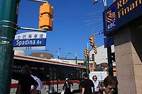 Toronto (ON) CANADA - July 2012 -  Toronto  Chinatown<br /> , Royal bank of canada (RBC)