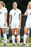 28 September 2014: Wake Forest's Sarah Teegarden. The Wake Forest University Demon Deacons hosted the Notre Dame University Fighting Irish at W. Dennie Spry Soccer Stadium in Winston-Salem, North Carolina in a 2014 NCAA Division I Women's Soccer match.